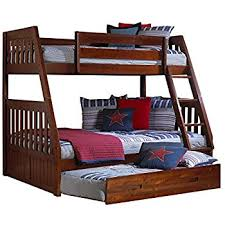 amazon com furniture of america pammy twin over queen bunk bed