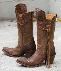 corral fringe cowboy boot women u0027s shoes buckle western style