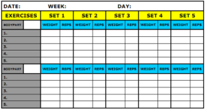 Workout Excel Template 8 Best Workout Log Templates For Excel And Word