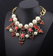 aliexpress vintage necklace images New arrival luxurious vintage chunky pearl crystal stone choker jpg