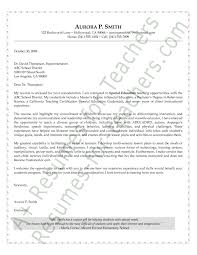 special education cover letter