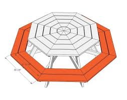 Free And Easy Diy Furniture Plans by Best 25 Octagon Picnic Table Ideas On Pinterest Picnic Table