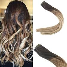 ombre hair extensions in balayage hair brown fade to caramel mixed warm