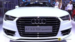 2017 audi a7 3 0 tdi quattro exterior and interior walkaround