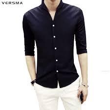click to buy u003c u003c versma 2017 half sleeve men solid color stand