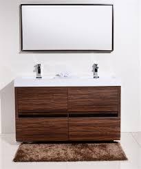 walnut bathroom vanity bliss 60