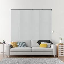 Home Depot Blackout Shades Chicology Adjustable Sliding Panel Cut To Length Curtain Drape