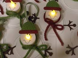 Christmas Decorations Tea Lights by Snowman Ornaments Or Snowman Tags Made From Tealights Leslie U0027s Blog