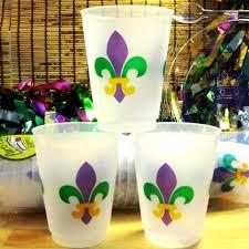 mardi gras cups fleur de lis collection party cup express
