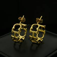 ch earrings free shipping new york fashion brand ch chhc letter ch copper