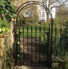 metal garden arch with seat home outdoor decoration