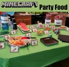 minecraft party minecraft birthday party printables decorations and food