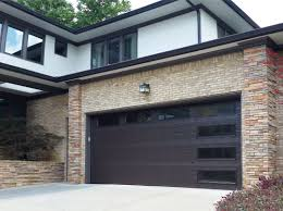 Overhead Garage Door Inc Garage Doors Modern Classicc42 Bronze Anodized Satin Etch