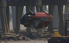 woman survives after car is knocked off chesapeake bay bridge a