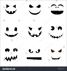 set halloween face ghost design stock vector 328632968 shutterstock