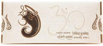 and in wedding card beautiful hindu wedding card with ganesha cut out shlokas
