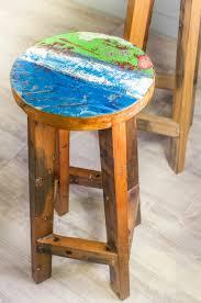 tabouret de cuisine en bois tabouret de bar en bois de bateau