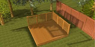 deck kit 5 southern pine 3m x 3m garden patio deck kit with