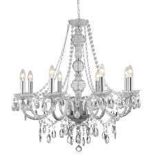 Marie Therese Crystal Chandelier Marie Therese Clear 8 Light Chandelier With Crystal Drops Online
