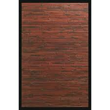 5 By 8 Rugs Anji Mountain Cobblestone Mahogany Brown With Black Border 4 Ft X