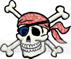 pirate skull and crossbones clipart free best pirate