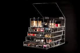 bedroom deluxe acrylic makeup drawer organizer diamond handles