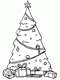 christmas tree template cut out coloring home