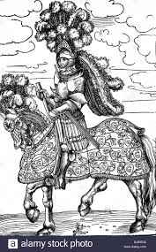 middle ages knights knight on horse with decorated knight u0027s