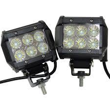 led tractor light bar 2pcs 18w led work light bar 12v led tractor work light fog l