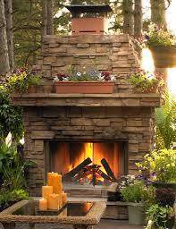 outdoor wood fireplace crafts home