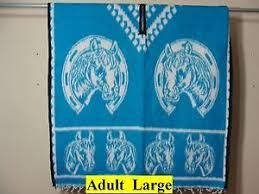 mexican horseshoes authentic mexican blue horseshoe poncho gaban sarape
