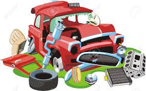 old crashed car and parts royalty free cliparts vectors and