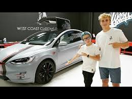 jake paul car jake paul new tesla car for erica costell youtube