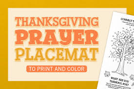 thanksgiving prayer placemat catechist s journey