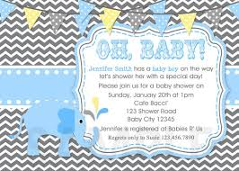 baby boy shower invitations baby shower invitations boy elephant blue invite printable