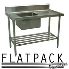 Stainless Steel Sinks Sink Benches Commercial Kitchen Stainless Steel Bench With Sink At Flatpack Stainless In Nsw Penrith