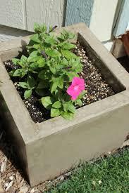 concrete planters diy modern minimal concrete planter boxes