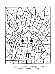 free color by number coloring page coloring page