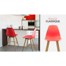 Chaise Salle A Manger Rouge by Chaise Haute Scandi Rouge Mac Andrews Design Et Confortable