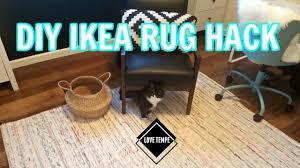 diy ikea tanum rug hack make a giant rug easy youtube