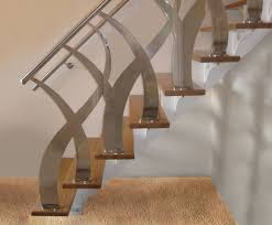 Banisters And Handrails Steel Staircase Kit Water Cut Stainless Steel Balustrade Design