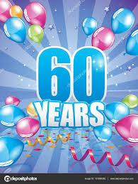 60 years birthday card 60 years birthday card stock vector orkidia 131896352