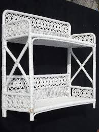 Wicker Bathroom Wall Shelves Vintage White Wicker Shelves Wall Mount Shelf For Bed Or Bathroom