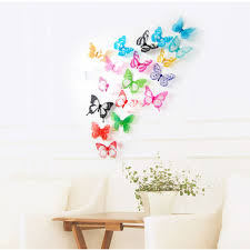 compare prices on butterfly 18pcs online shopping buy low price 18pcs decal wall stickers home decorations 3d butterfly rainbow china mainland