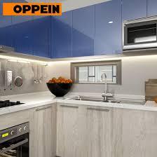 blue grey kitchen cabinets oppein high gloss blue and grey stain fitted kitchen cabinets