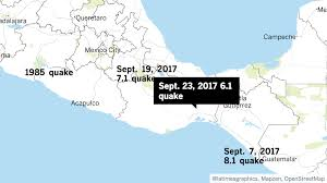 Oaxaca Mexico Map Scientists Say Latest 6 1 Aftershock In Mexico Is U0027not Surprising U0027