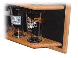 pint glass display cabinet oak pint beer glass display shelf details display shack