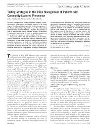Reference Provided Upon Request Testing Strategies In The Initial Management Of Patients With