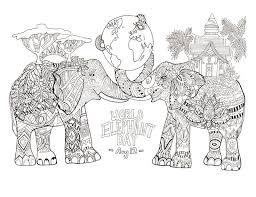 321 colouring elephants zentangles images