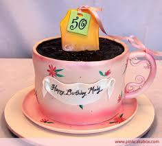 50th birthday tea time cake birthday cakes